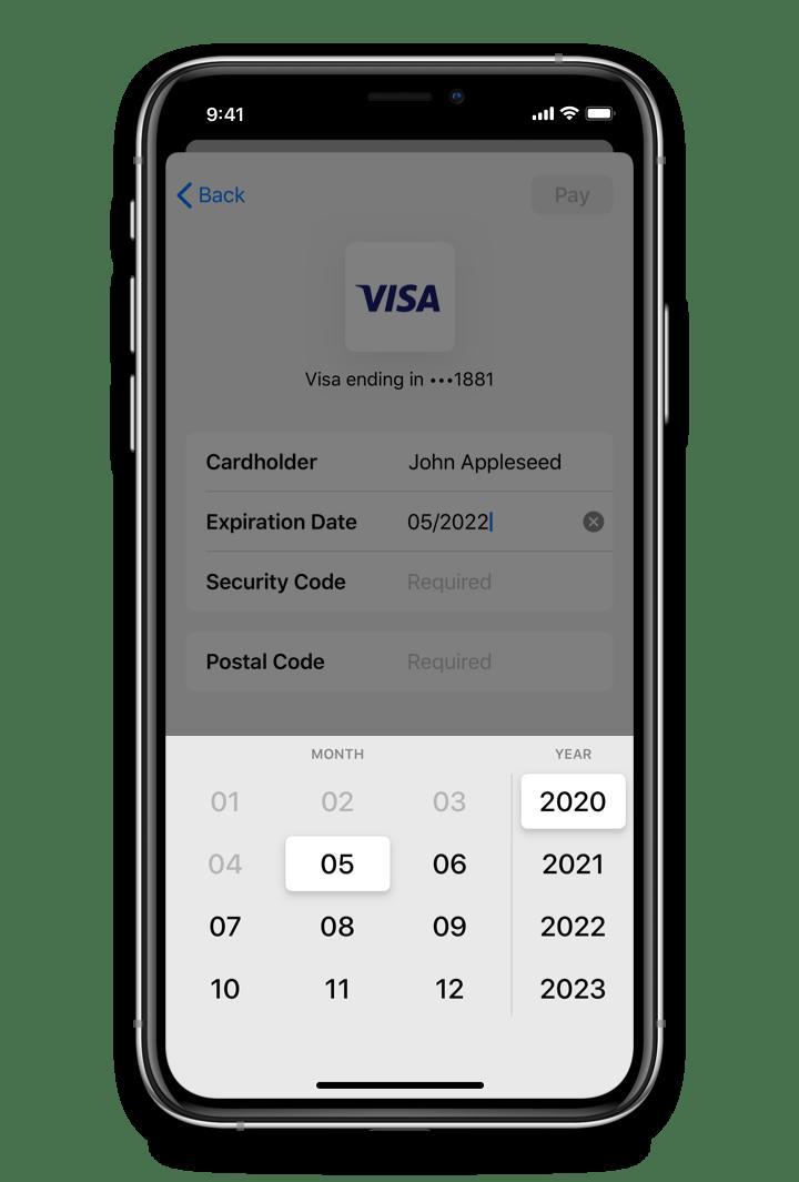 PayPal Custom Expiration Date Picker