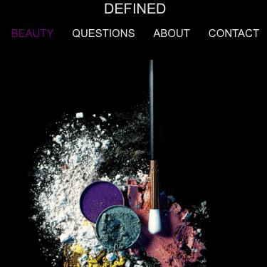 Image of Definedbydhushy Webpage