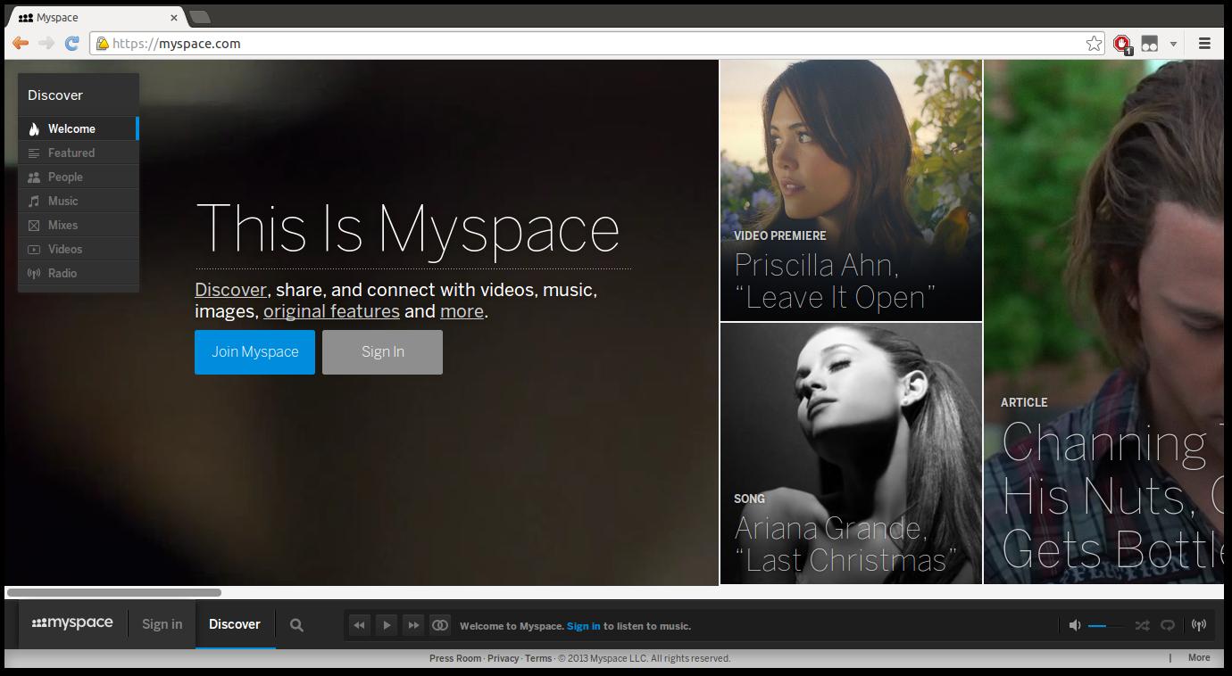 Go to myspace