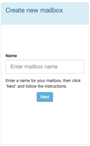 Enter a name for your Parseur mailbox