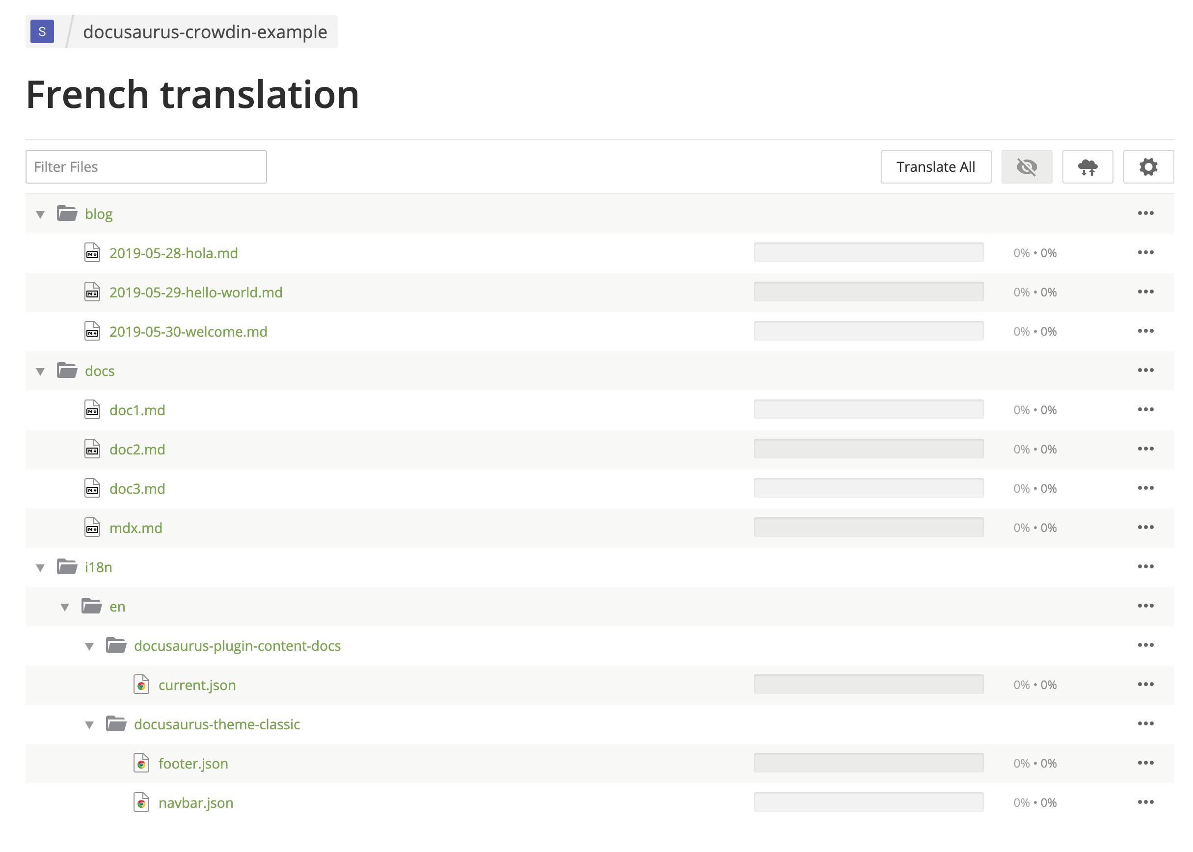 Crowdin UI 显示简体中文翻译文件