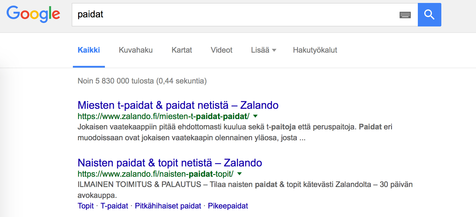 zalando dominating serps