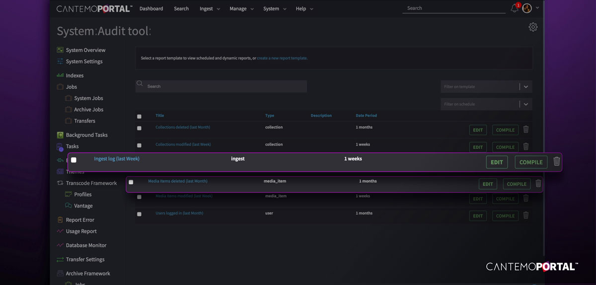The revised audit tool in Cantemo Portal 5.0