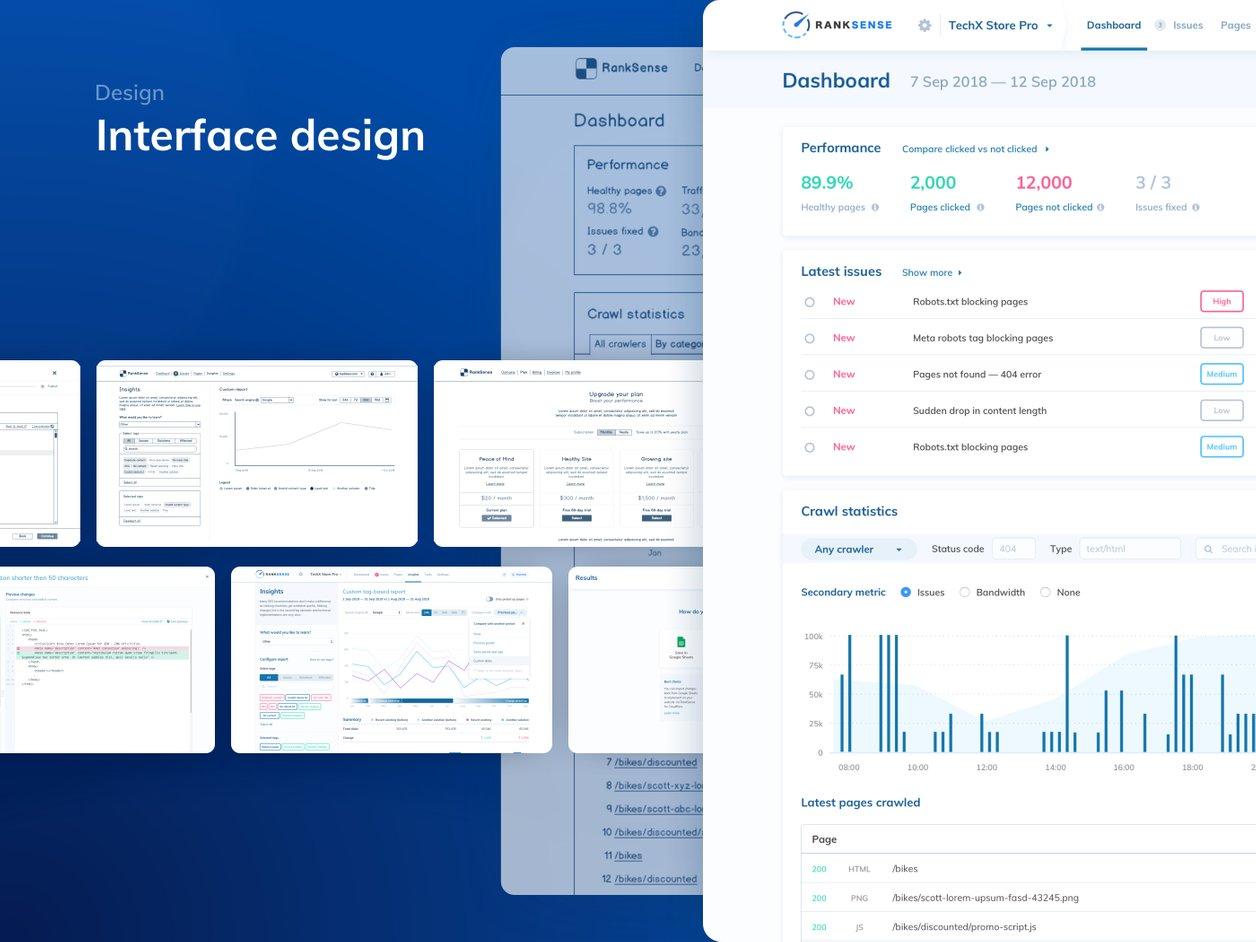 User Interface Design - UX Design   RankSense