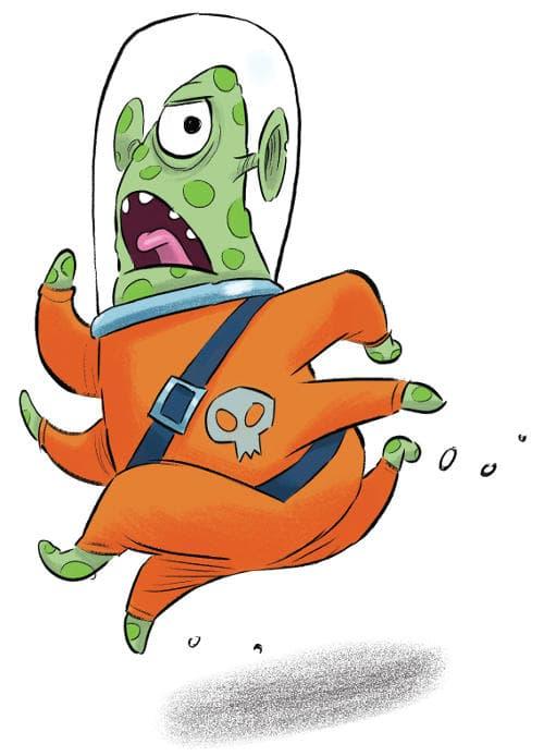 An alien running