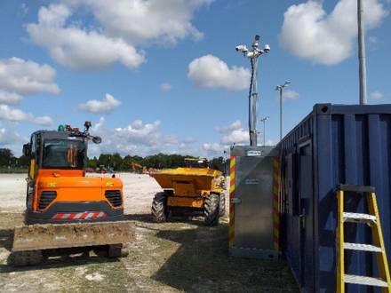 Rapid Deployment CCTV Tower at Construction Site – Kent