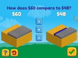 Compare two 3-digit numbers up to 1000 Math Game