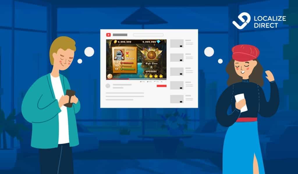 Mobile gamers illustration