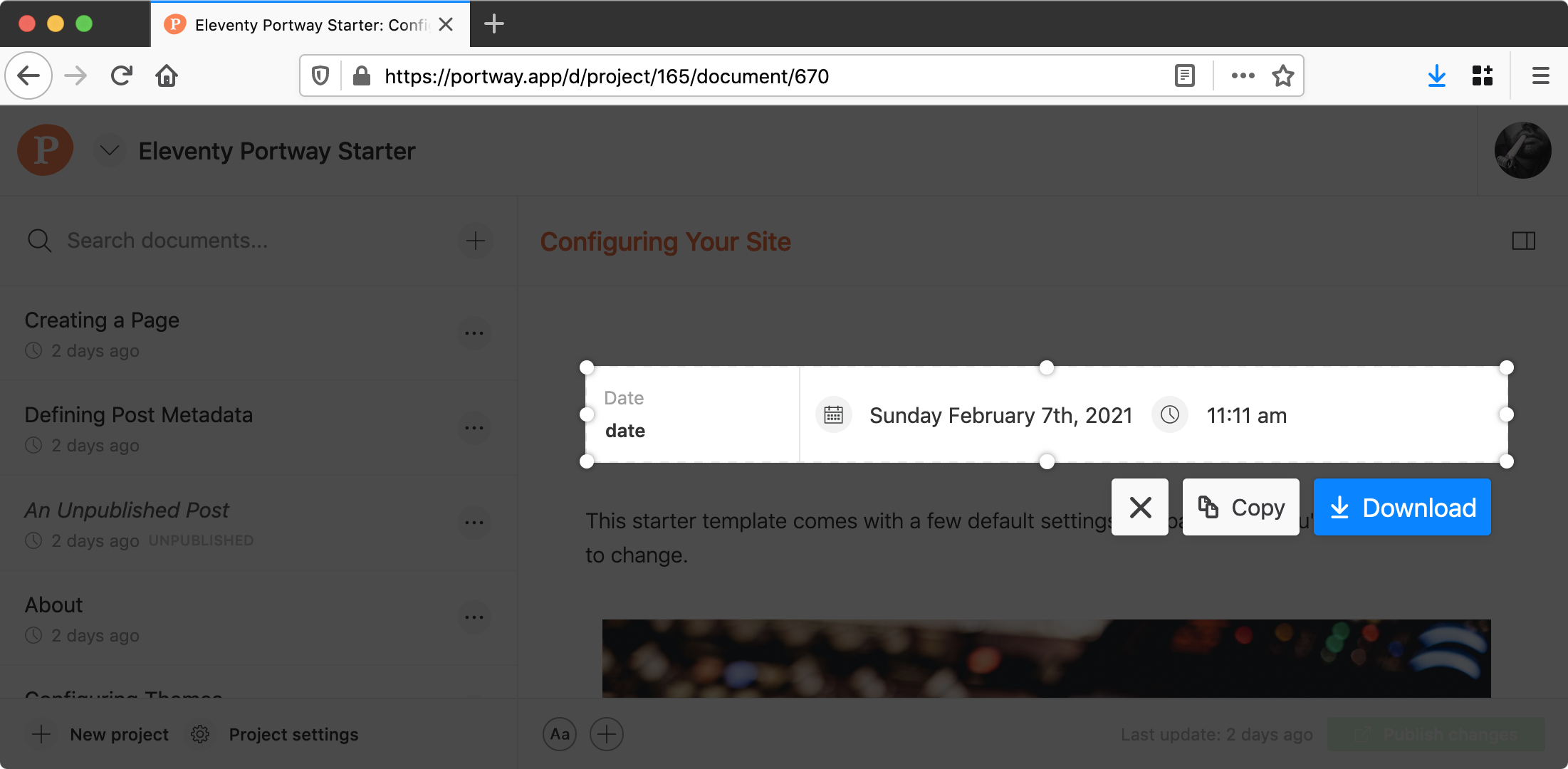 Browser tools highlight a single element for capture