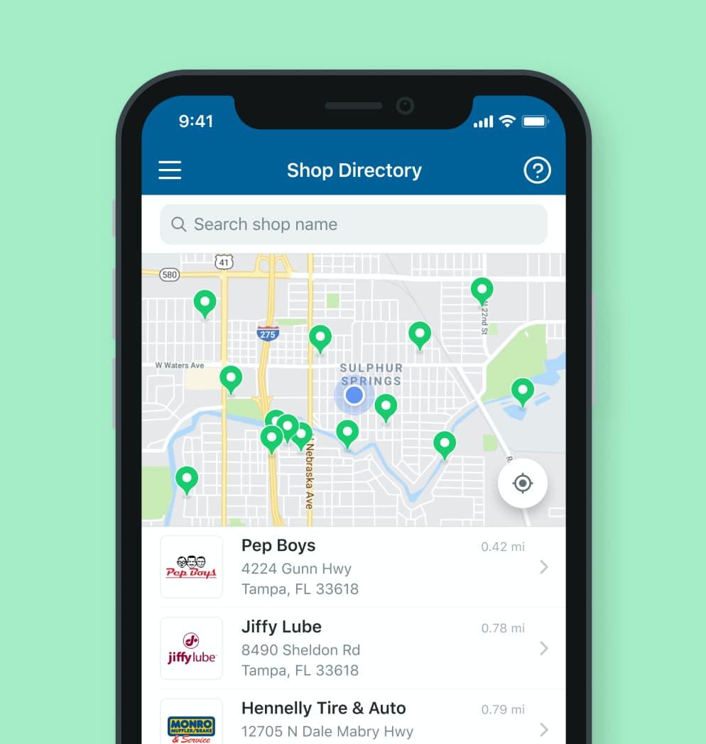 Shop directory