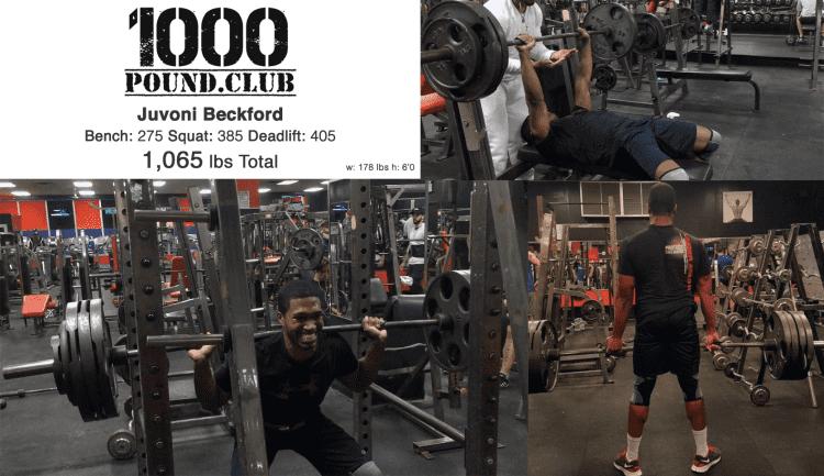 Juvoni Weight Lifting 1000 lb club