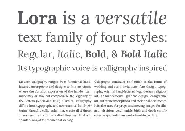 Type Promo - Lora