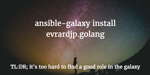 ansible-galaxy install golang -- 404 - proper role not found