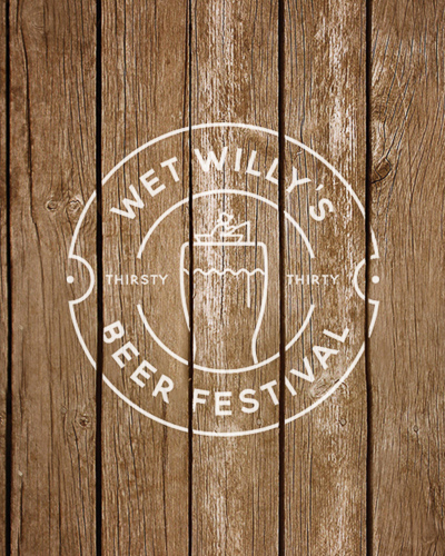 Logo design for Wet Willy's Beer Festival, designed by Jack Watkins at Jack's Creative Studio