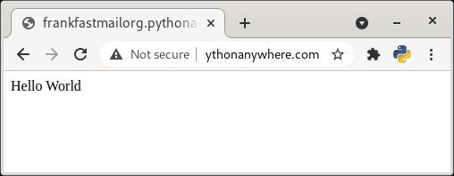 hello world in python django