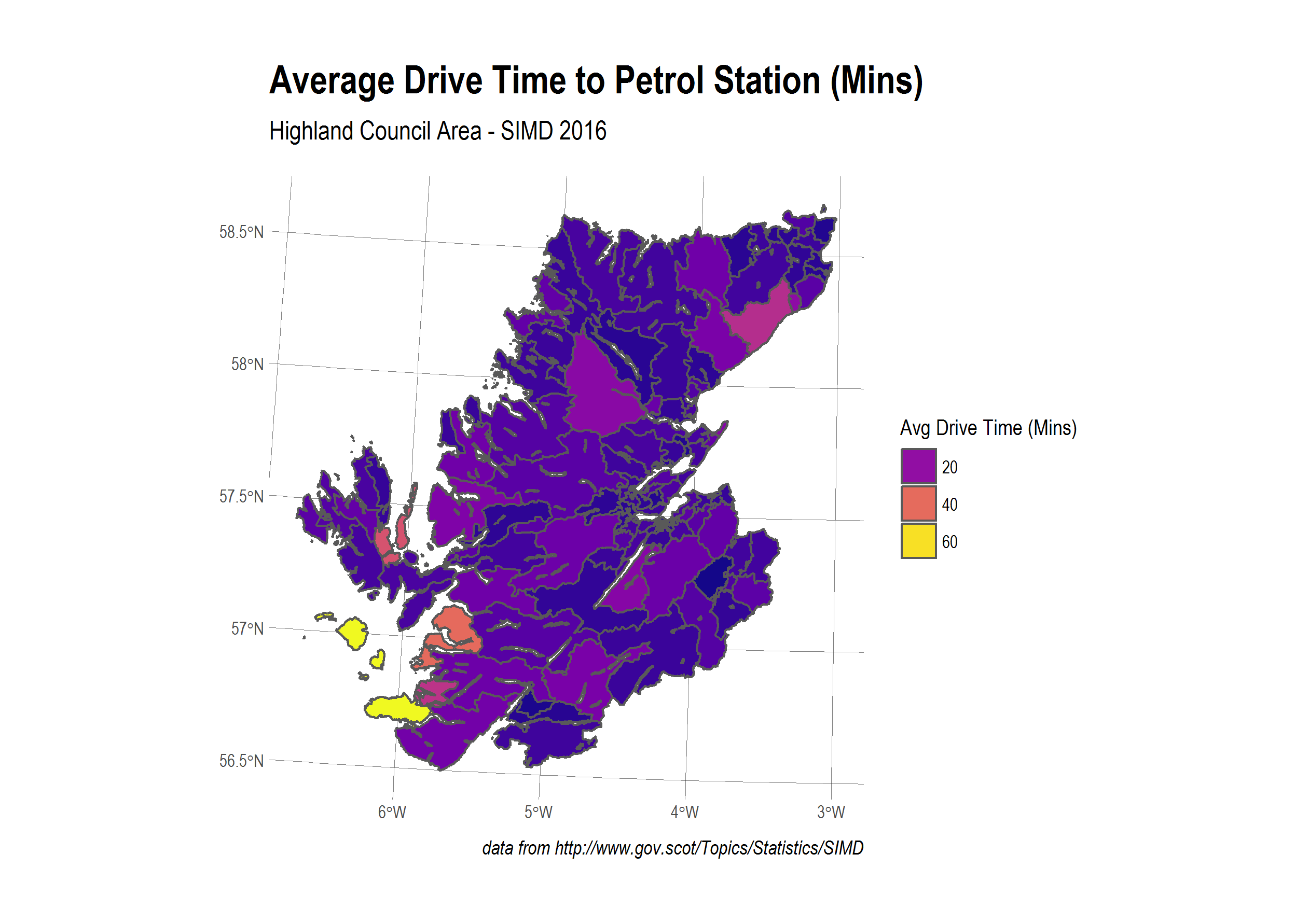 average drive time to petrol station
