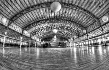 Black and white picture of Danceland Gym
