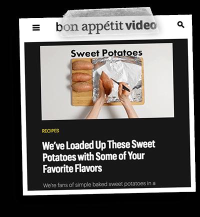 Bon Appetit Sweet Potatoes