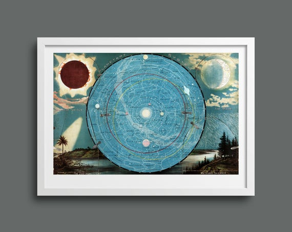 Planetary System & Eclipse of the Sun by Levi Walter Yaggy
