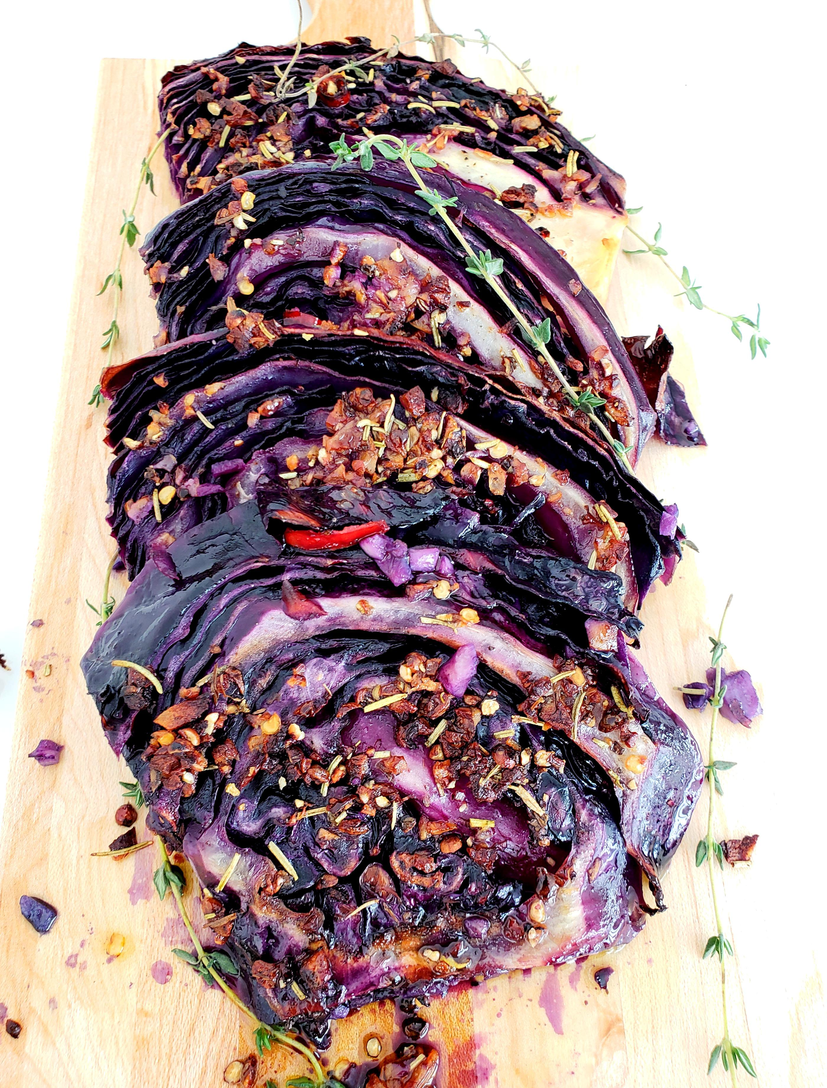 Oven Roasted Red Cabbage Steaks