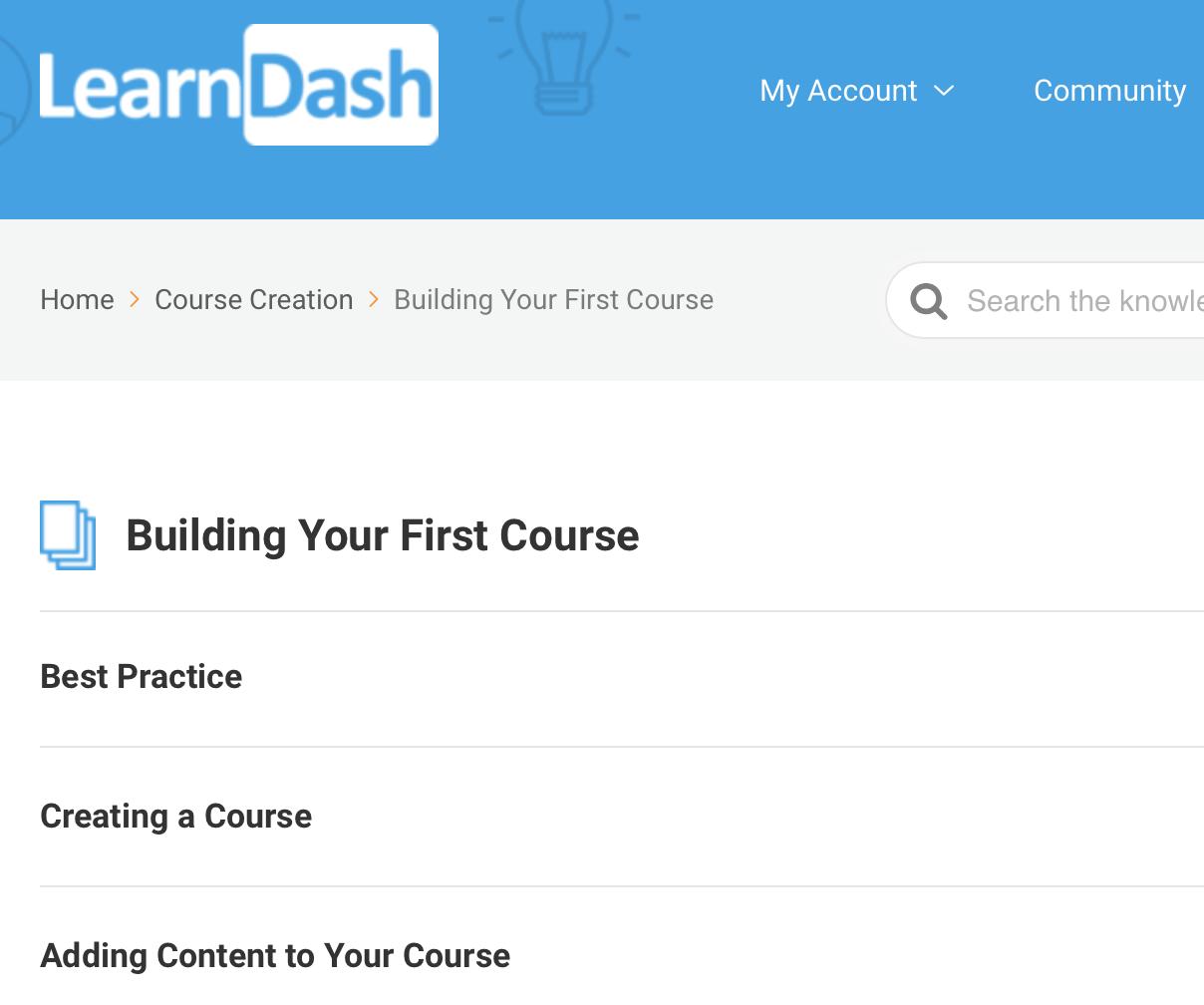 LearnDash tutorials