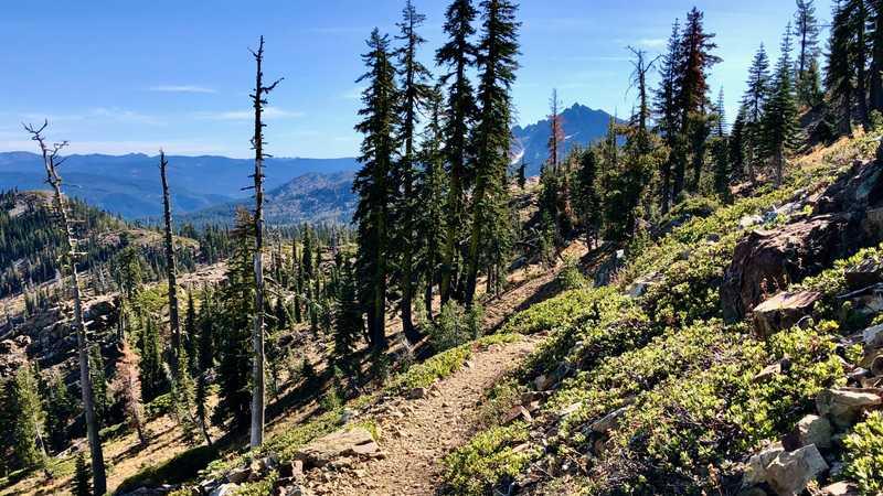 Walking to Sierra Buttes
