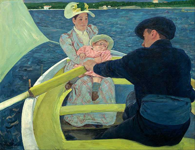 'The Boating Party' painted by Mary Cassatt (1844-1926) in 1893-94