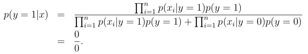 后验概率为0