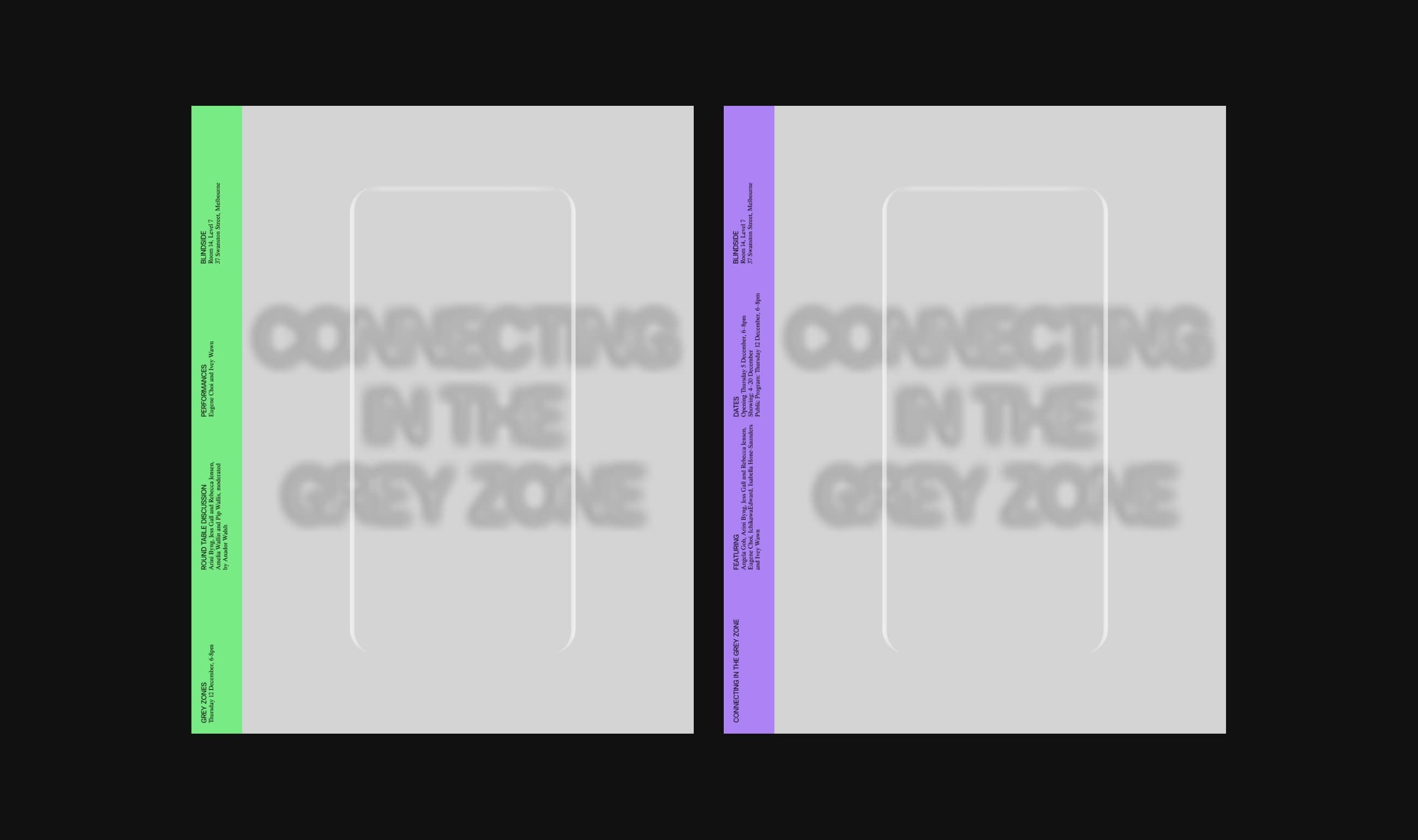 Connecting in the Grey Zone digital flyers