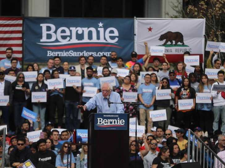 Bernie Sanders addresses rally in California