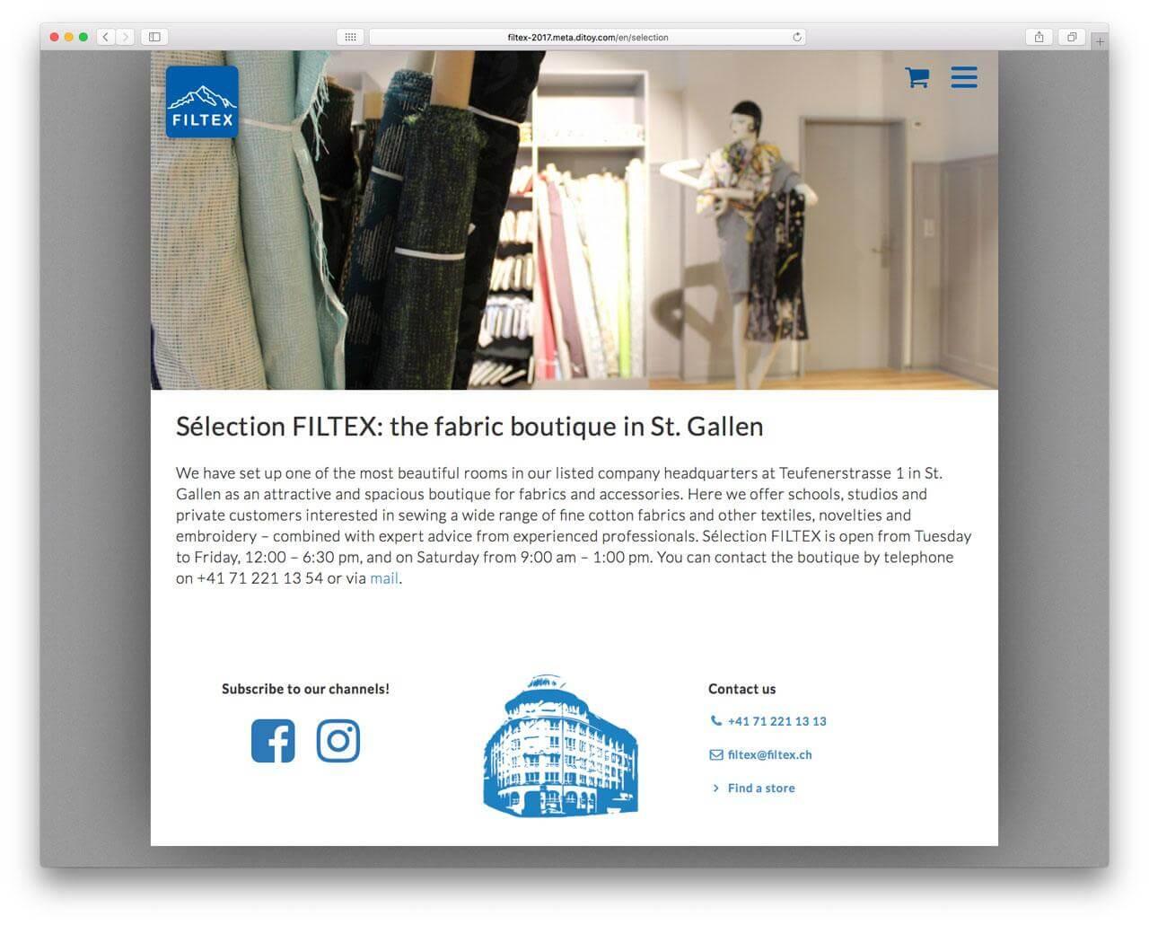 Filtex Corporate CMS Screenshot