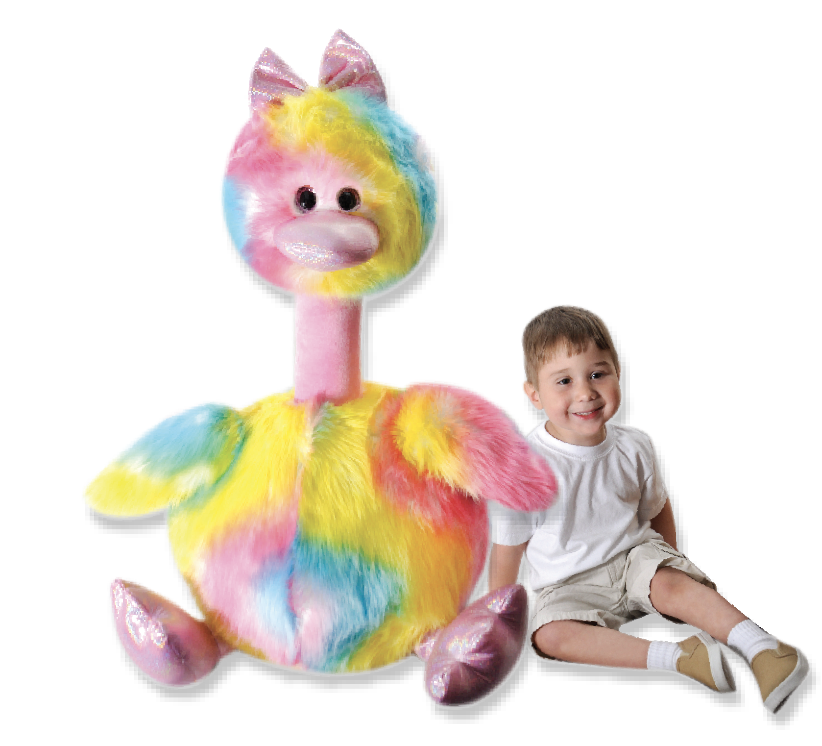 "The Petting Zoo: 38"" Tutti Frutti Jumbo Bird Mommy"