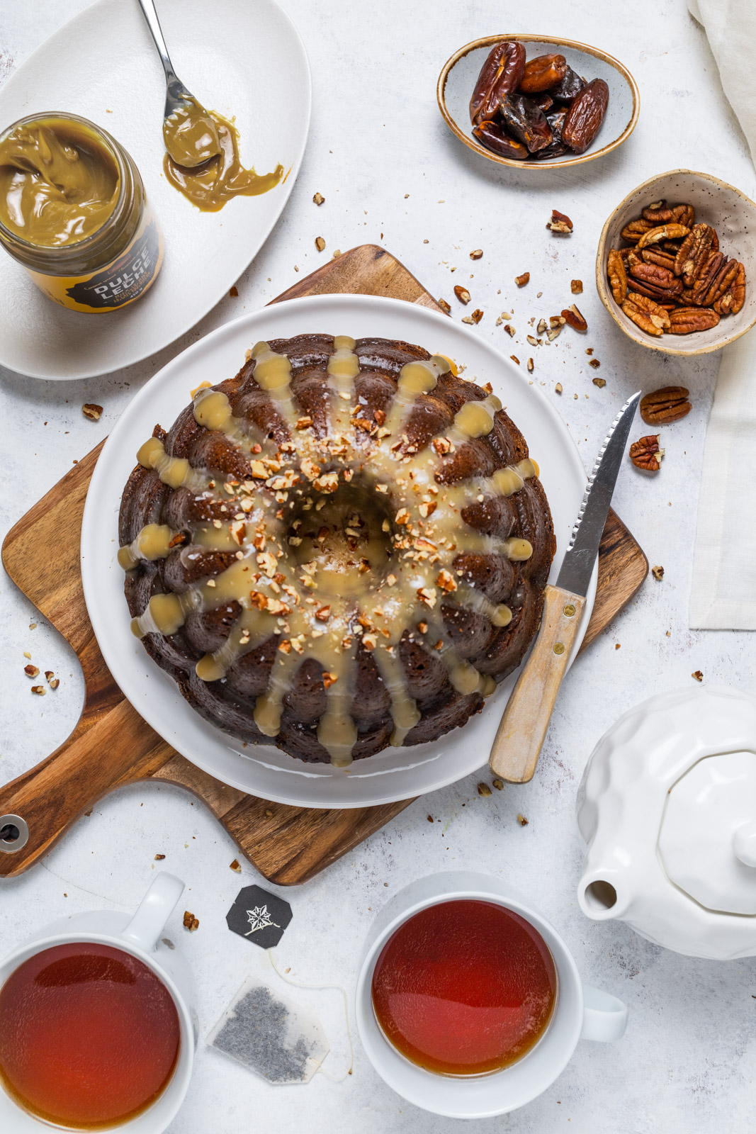 Sticky Toffee Chai Pudding Cake