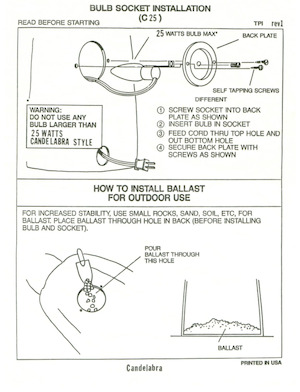 TPI Plastics Bulb Socket Installation (C25) Instruction Manual.pdf preview