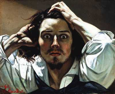 'Self-portrait (The Desperate Man)' by Gustave Courbet, c. 1843–45, Private collection