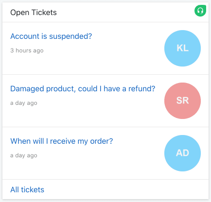 See a list of tickets that have the status open in your Freshdesk helpdesk