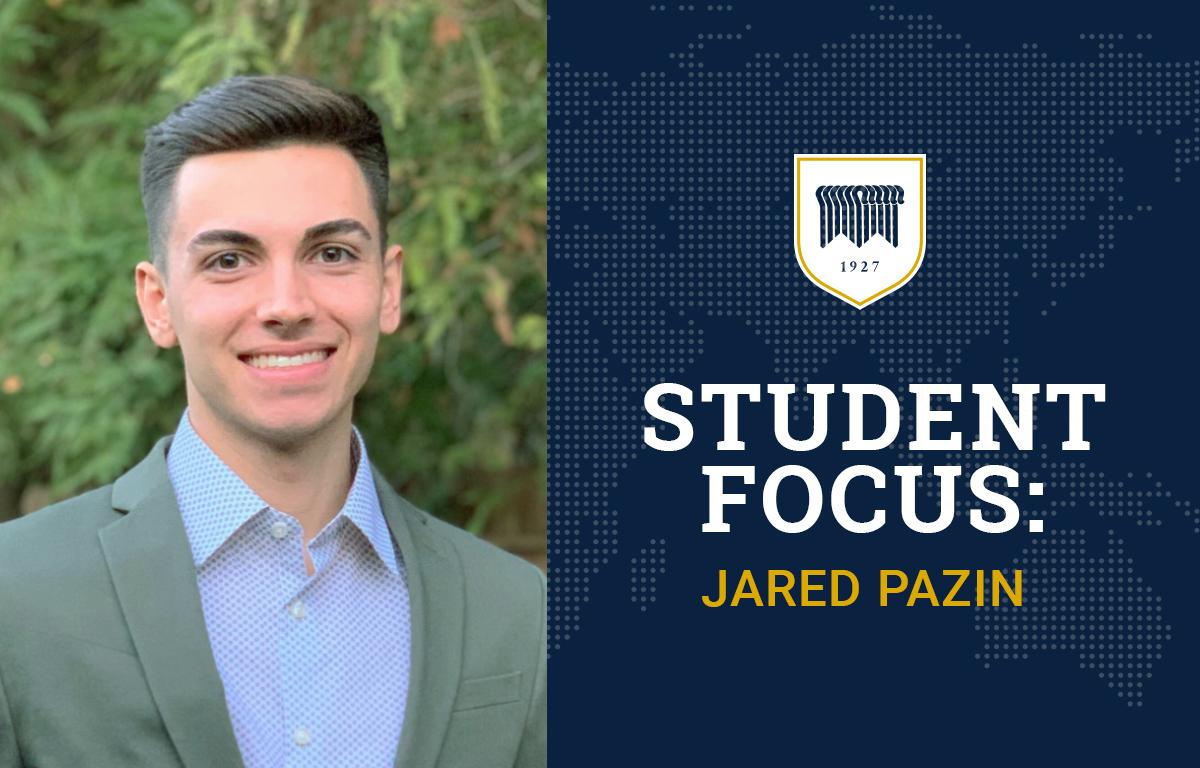 Student Focus: Jared Pazin