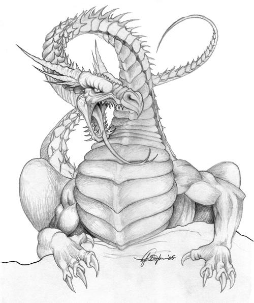 Angry Dragon Sketch