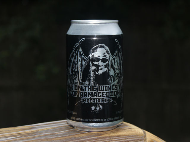 On The Wings Of Armageddon, an Imperial IPA brewed by DC Brau Brewing Company