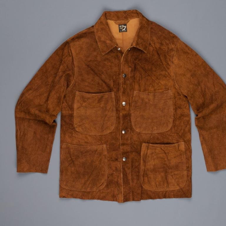 Suede utility jacket