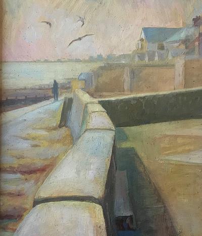 painting of Sandgate seawall