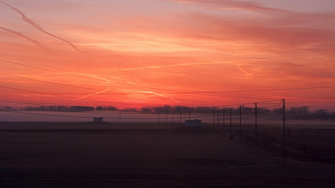 Sunrise over Nebraska