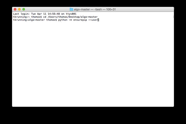download and install algo dependencies