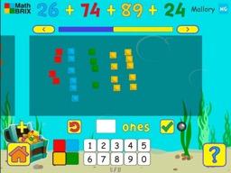 Add four 2-digit numbers (regrouping) Math Game