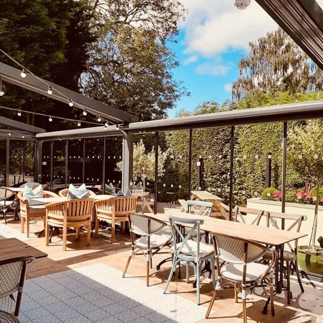 The Brownlee Arms beer garden