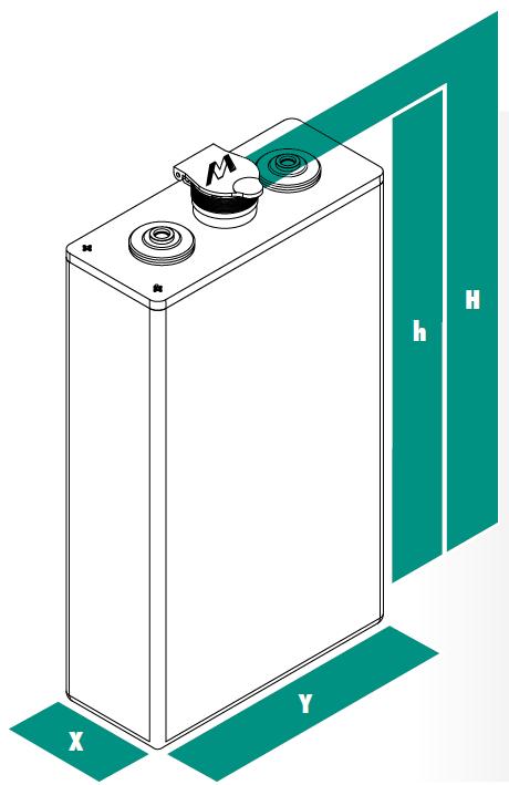 Článek trakční baterie 3PzS270