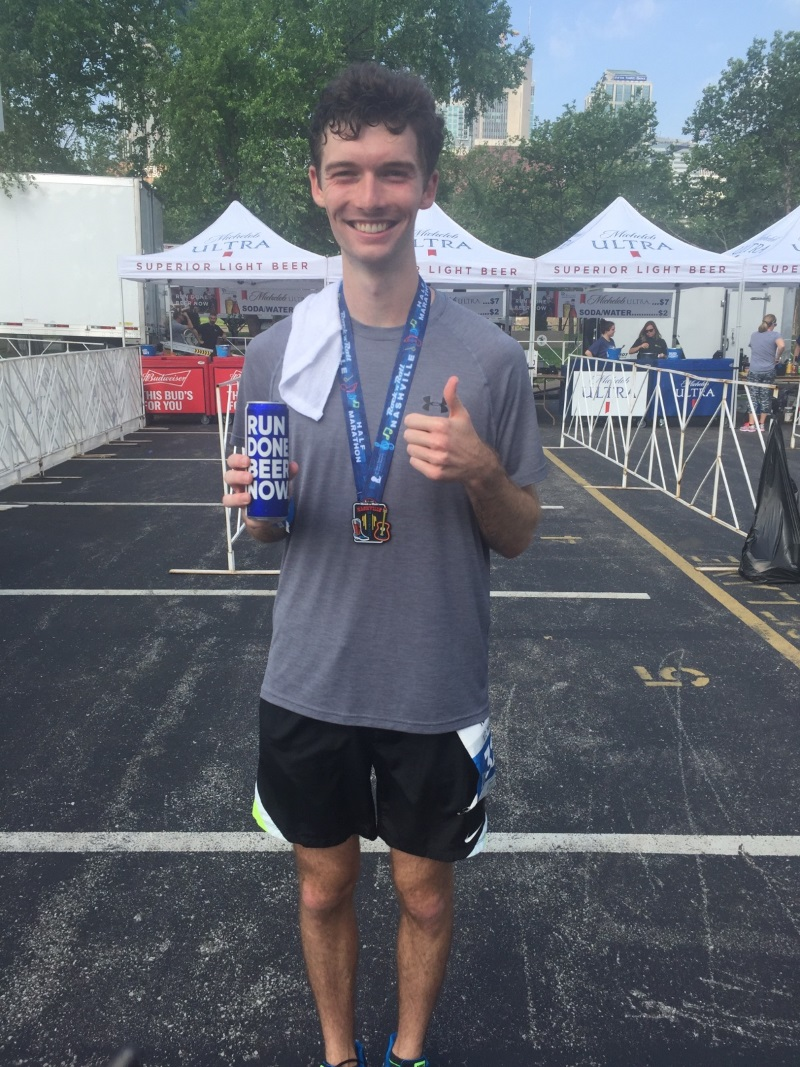 Not too photogenic after my first race