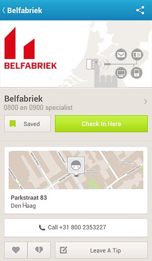 Voordelen van uw servicenummer in Foursquare