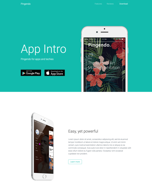 pingendo template free bootstrap 4 themes templates and ui kits