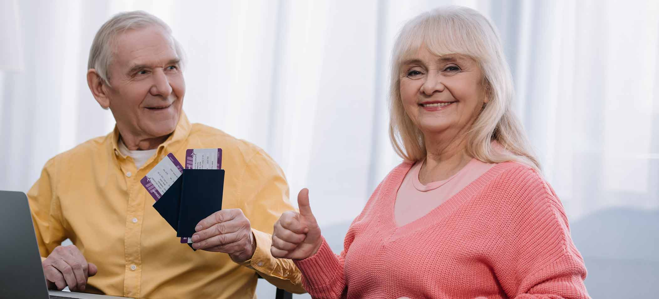 Retired couple or Baby Boomers Travel
